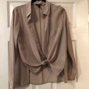 Tan/nude button up shirt